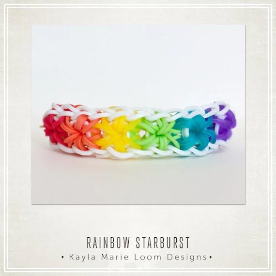 Rainbow Loom Starburst Bracelet Party Favors