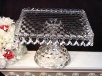 Vintage Fostoria American Crystal Footed Cake Plate