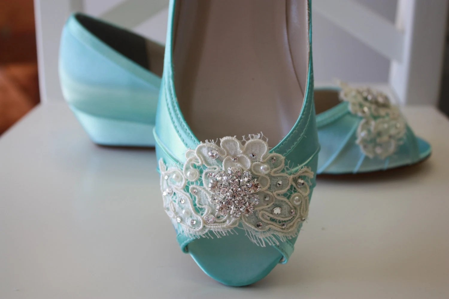 bridal flats wedding sandals for bride Lace Wedge Wedding Shoe Choose From Over Colors Aqua Blue Wedding Shoes Lace Wedding Wedge Bridal Shoe Wedding Wedge Lace Shoe