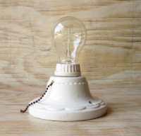 Vintage Porcelain Light Fixture Bath and by ...