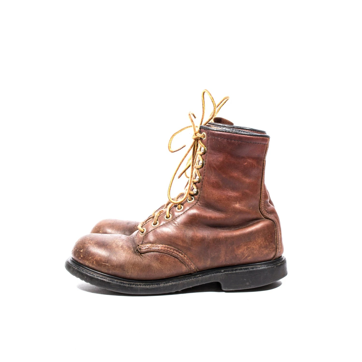 Men39s Vintage Red Wings Boots Steel Toe Work Boots