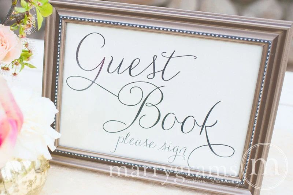 wedding guest registration book
