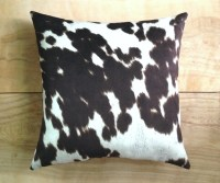 Cowhide Pillow Faux Cowhide Western Cowboy by RobinCottage