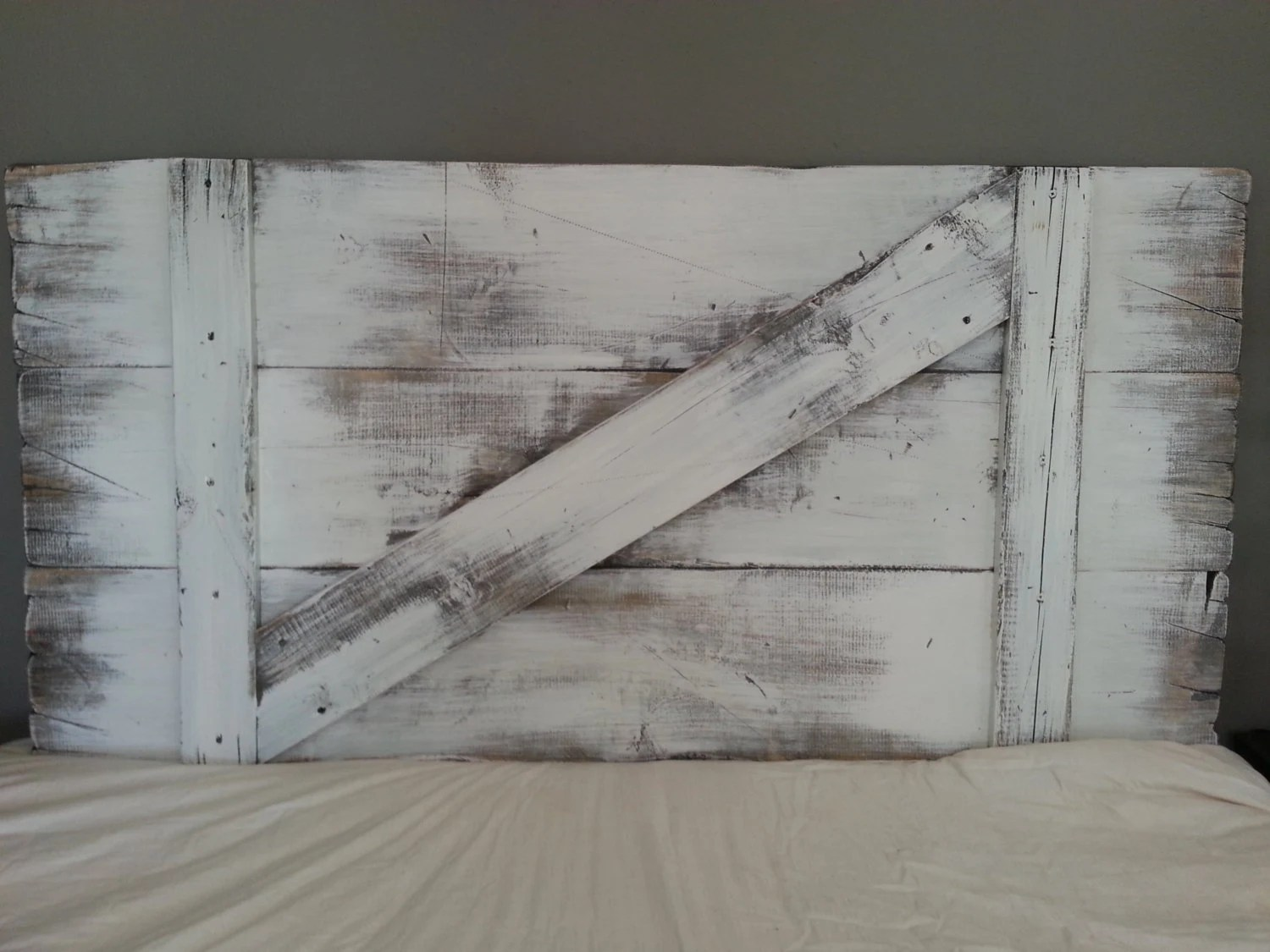 Painted Barn Doors Painted Barn Door Headboard