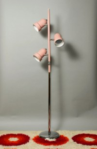 Pale Pink and Chrome 3 Spot Floor Lamp by Clover Lamp Company