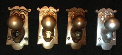 Alice in Wonderland Doorknob Disney prop 100% resin figure display Choose: Gold, Silver, Bronze and MORE