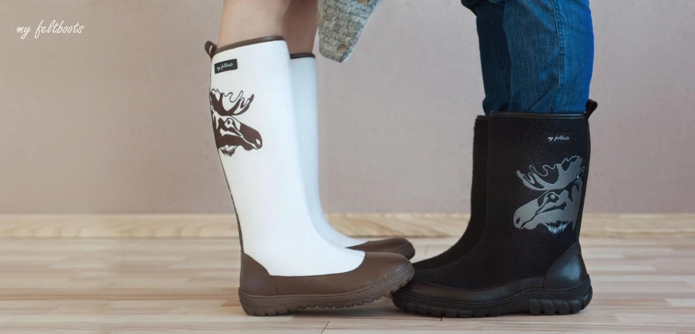 Handmade Men Felt Boots Men Winter Boots Felted Shoes