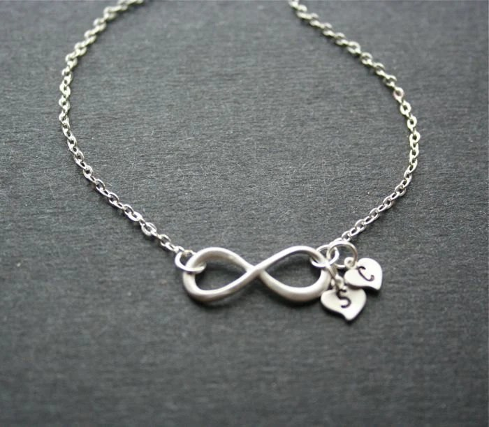 Infinity Necklace Infinity Symbol With Personalized Initials