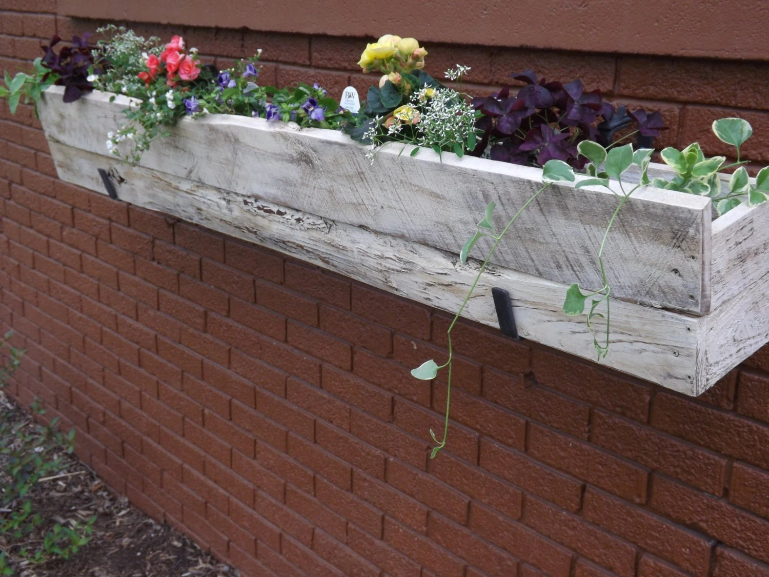 Window Planter Box Distressed Outdoor Wood Planter