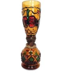 Vintage colored glass oil lamp indoor lantern home decor