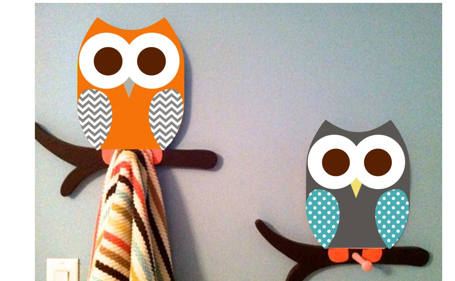 Owl Decor For Bathroom Owl Towel Racks Owl Bathroom Room Decor Wall By Thewoodenowl
