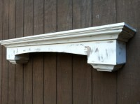 Fireplace mantel wall shelf distressed by RaysCustomWoodwork