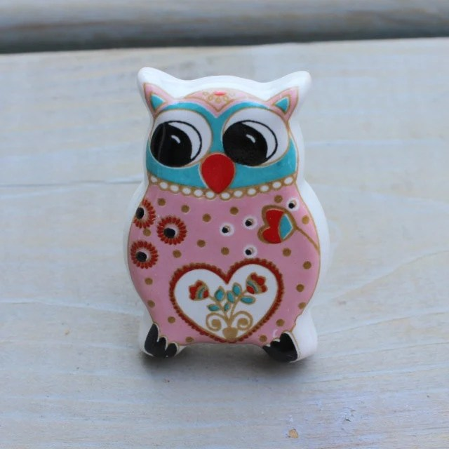 Porcelain Pumpkin Knobs Cute Owl Drawer Knobs Furniture Knobs With Fun Colors By Darosa