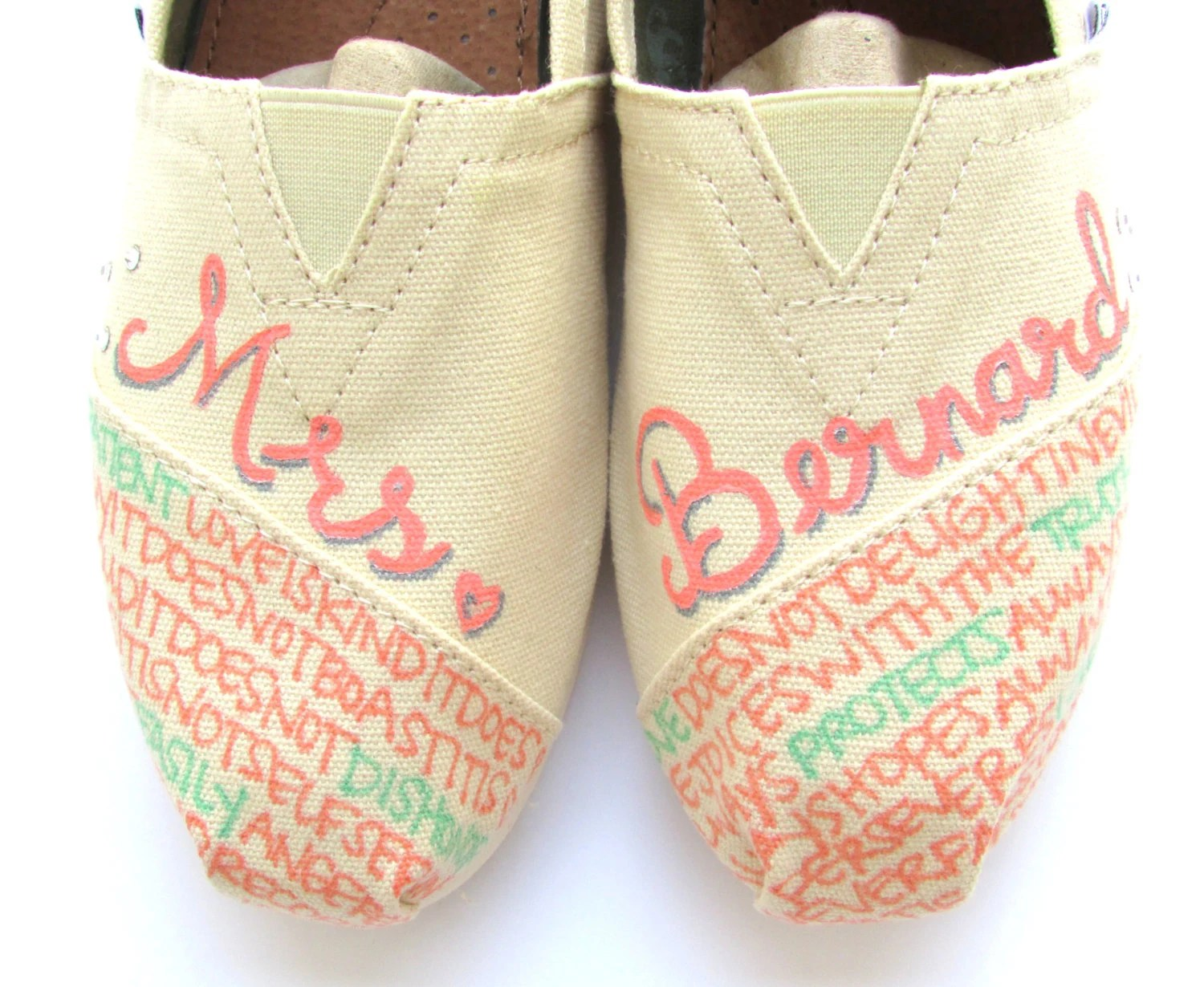 peach shoes toms wedding shoes The Bernard Mint and Coral Custom Wedding TOMS