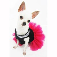 Pink Dog Clothes XXS Black Pet Costumes Teacup Chihuahua Tutu