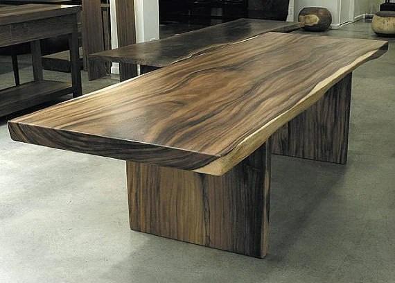 items similar suar wood slab dining table