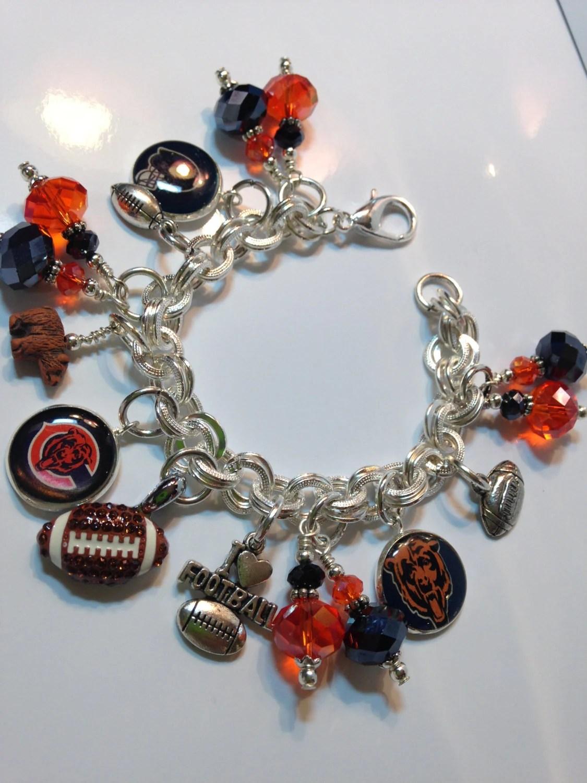 Chicago Bears Football Charm Bracelet