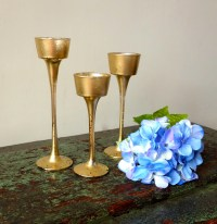 Candleholder Candle Holder Wedding Candles Gold Mercury Glass