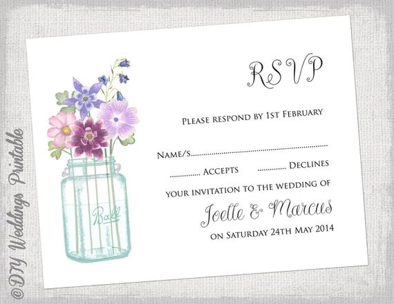 rsvp word template
