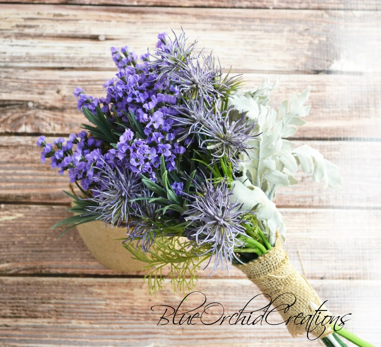 Lavendel Küchenrückwand Lavender Bouquet With Thistles Purple By Blueorchidcreations