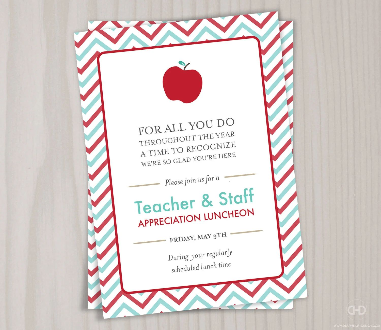 teacher appreciation invitation template