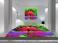 trippy bed sheets - 28 images - psychedelic ghost print ...