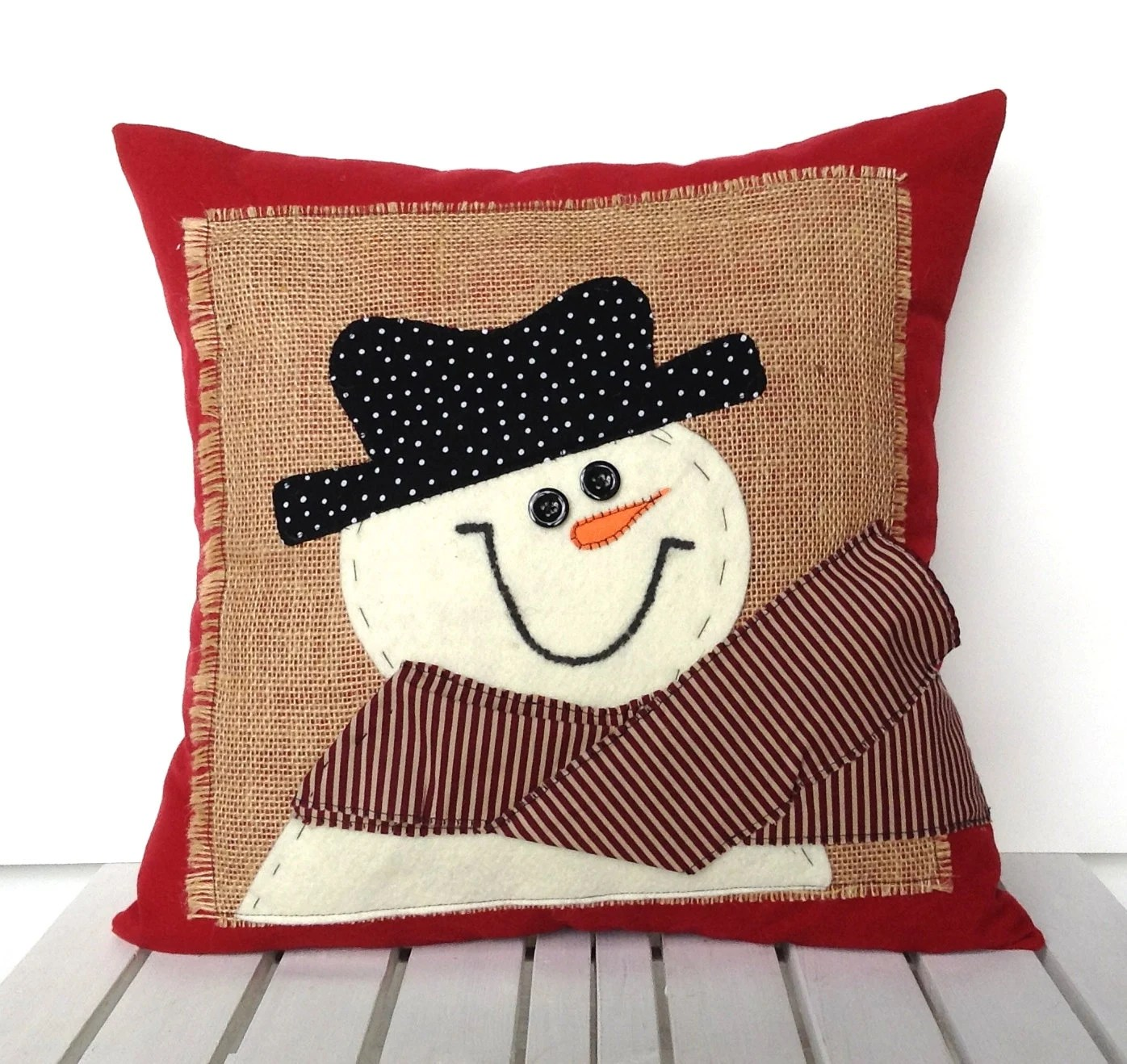 Cushion Covers Christmas Snowman Christmas Pillow Cover Holiday Pillow Decorative