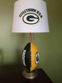 Green Bay packers football lamp by thatlampguyGraz on Etsy