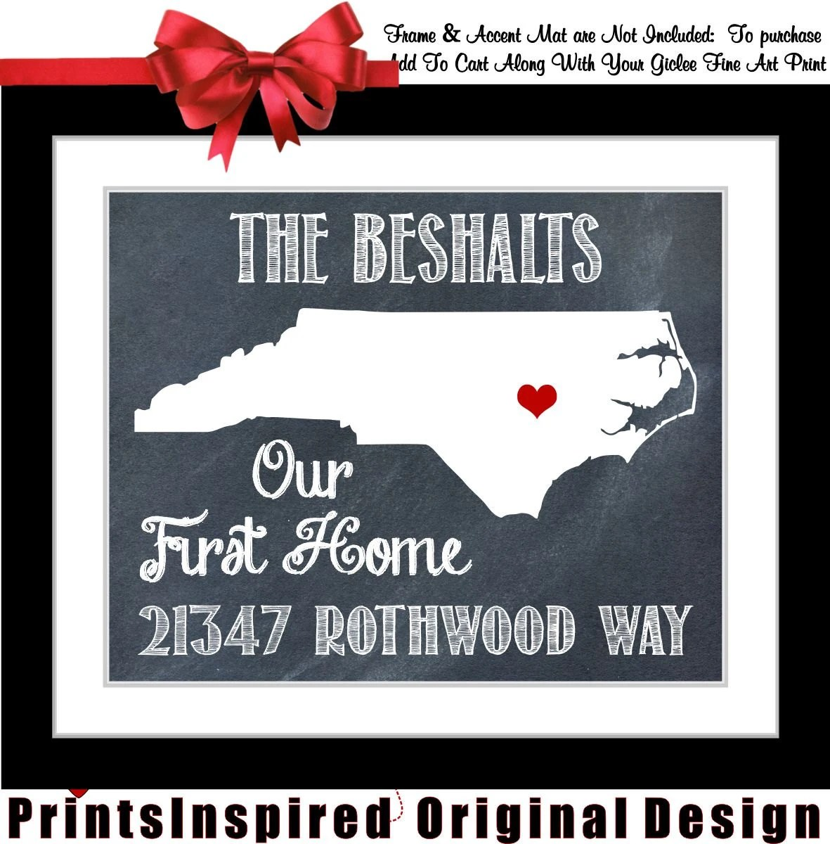 Personalized House Warming Gift Housewarming Gift Personalized State Map Print By