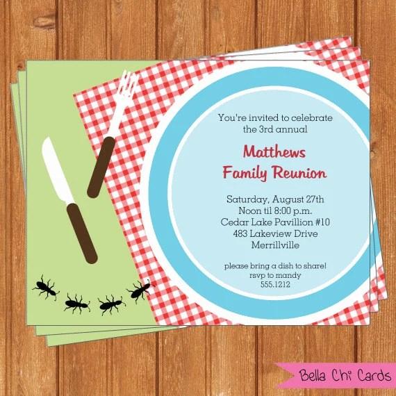 free printable family reunion invitations - 28 images - printable