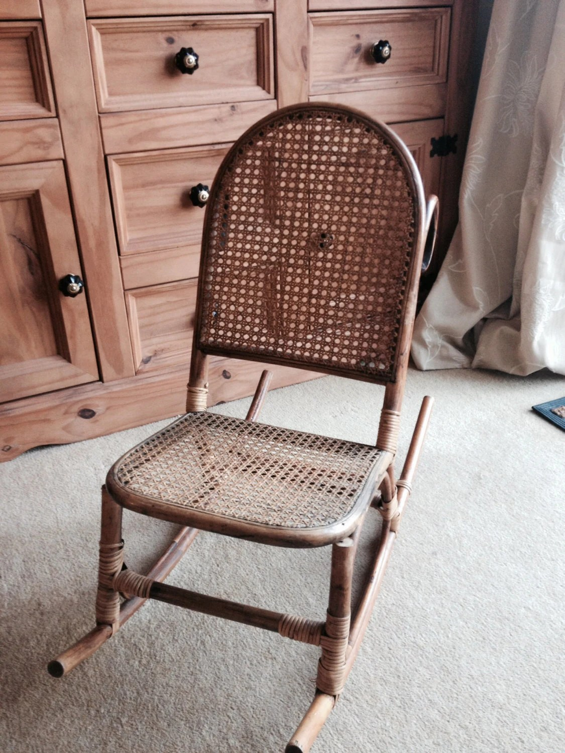Rocking Chair Vintage Antique Childs Rocking Chair In