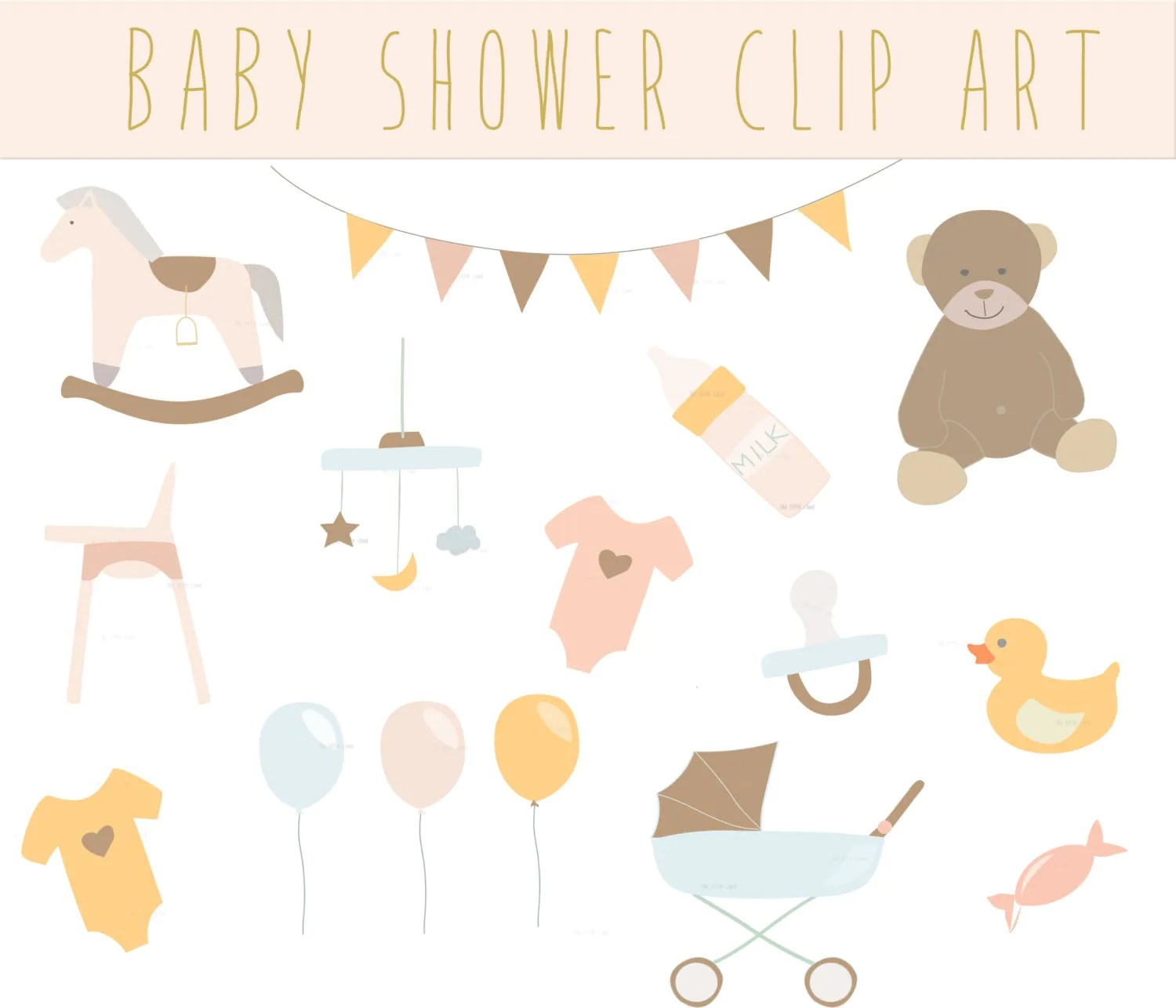 Rocking Chair Baby Bunting Baby Shower Vintage Clip Art Clipart Cute Baby Shower