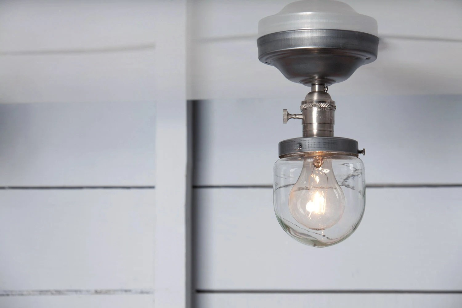 Beacon Pendant Lights Industrial Ceiling Mount Light Glass Shade Beacon Semi