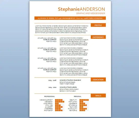 How To Create A Resume In Microsoft Word With 3 Sample Modern Microsoft Word Resume Template Stephanie By Inkpower