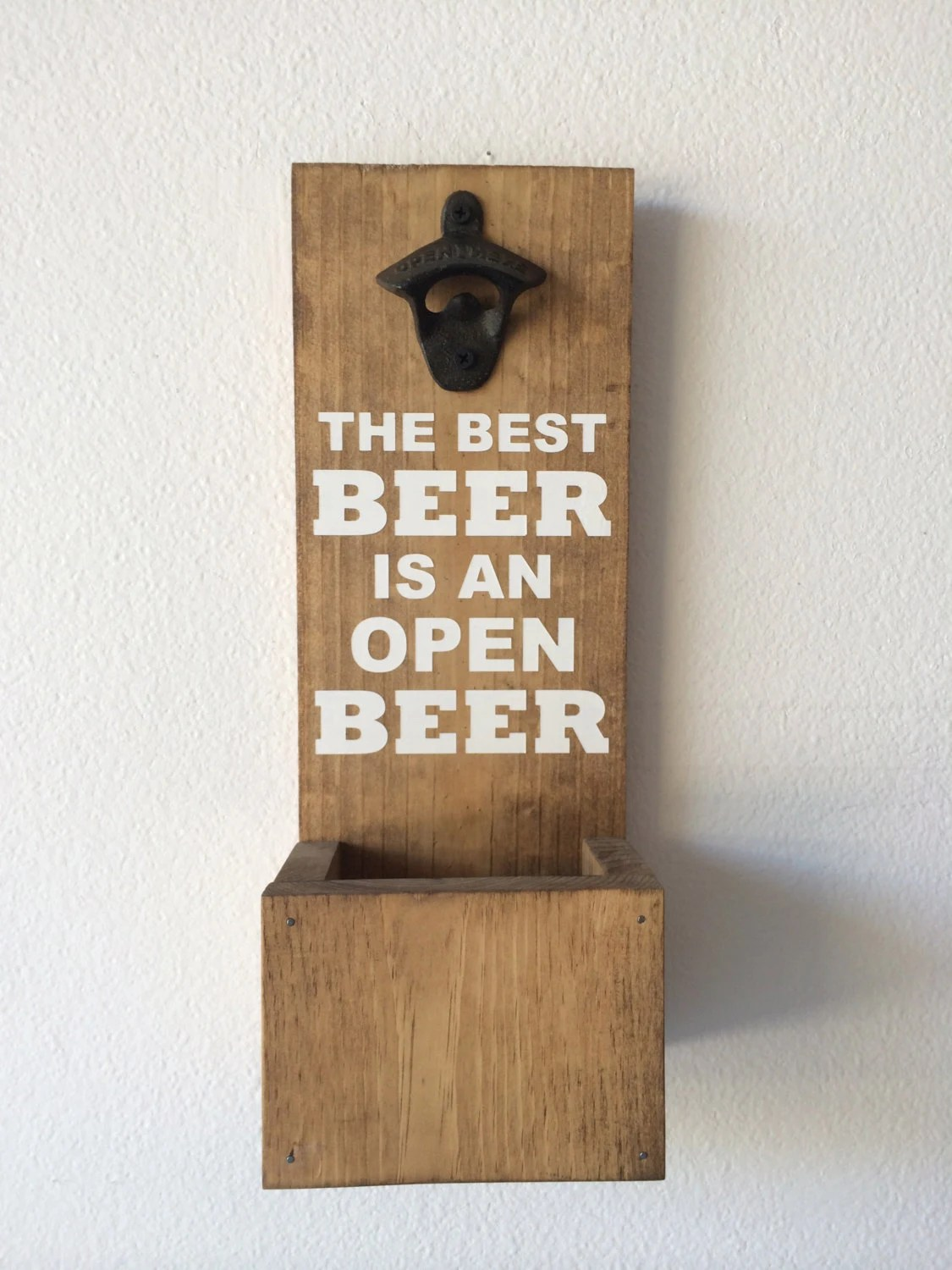 Wall Mounted Beer Opener And Catcher Wall Mounted Bottle Opener With Cap Catcher The Best Beer Is