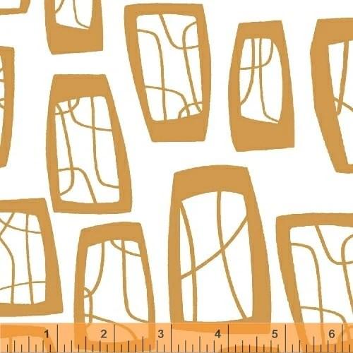 Lotta Jansdotter Fabric - Glimma - Geometric in Orange