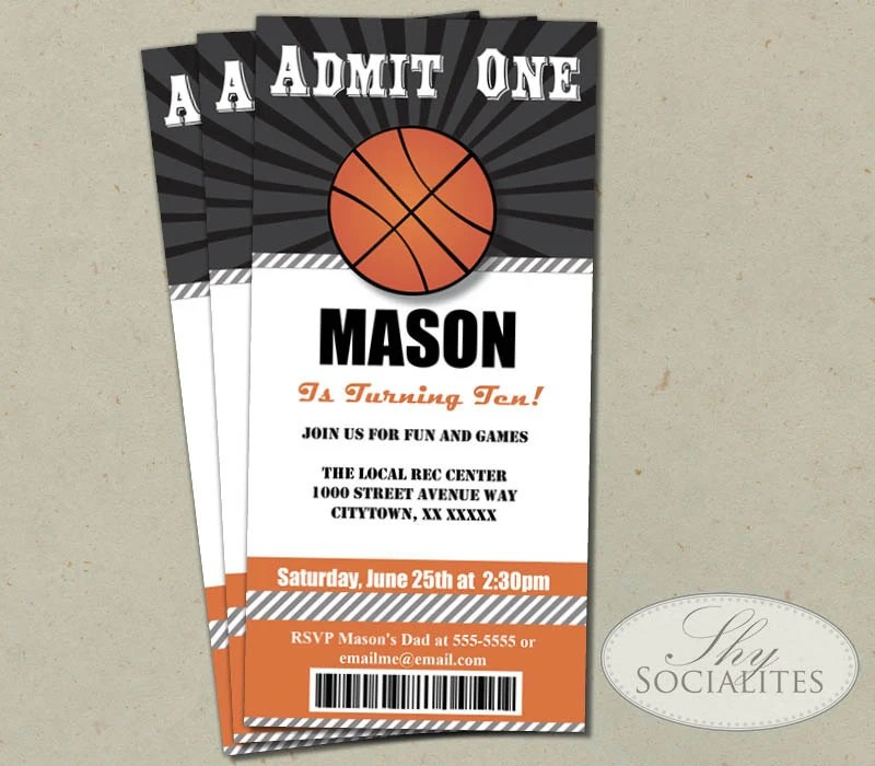 sports ticket template free download - Ball Ticket Template