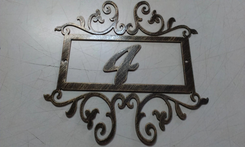 House Number Address Sign Wall decor Metal Art