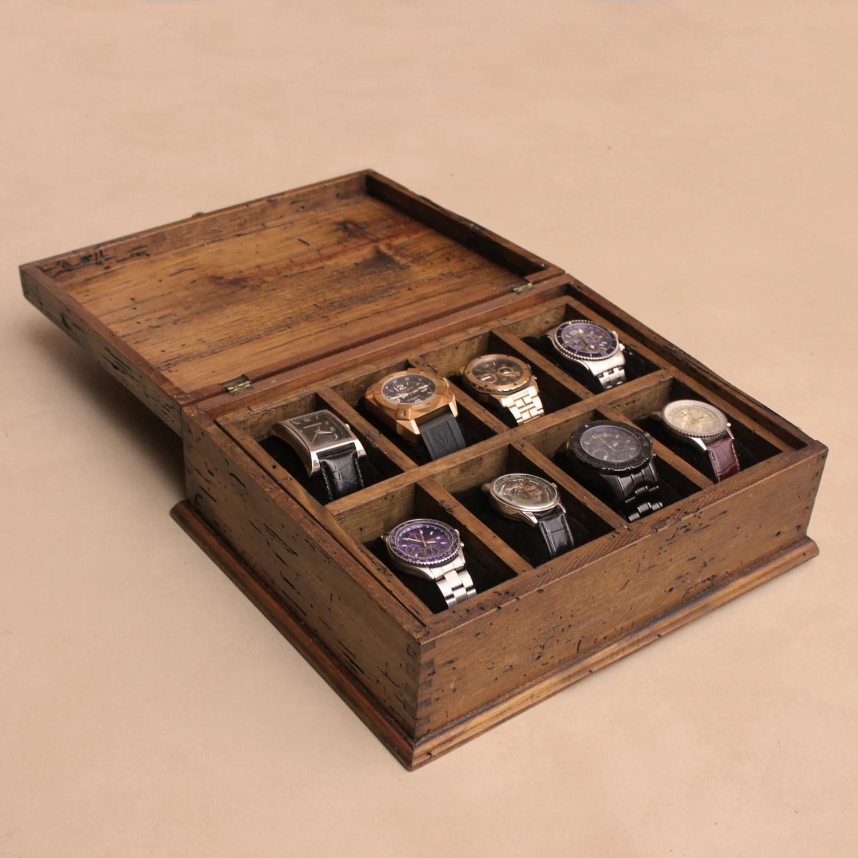 Men39s Watch Box Watch Box Watch Case Wood Watch Box