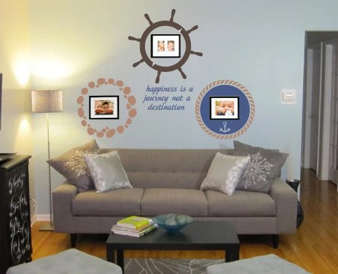 NAUTICAL Picture Frame Wall Decal by KeyReflectionStudios