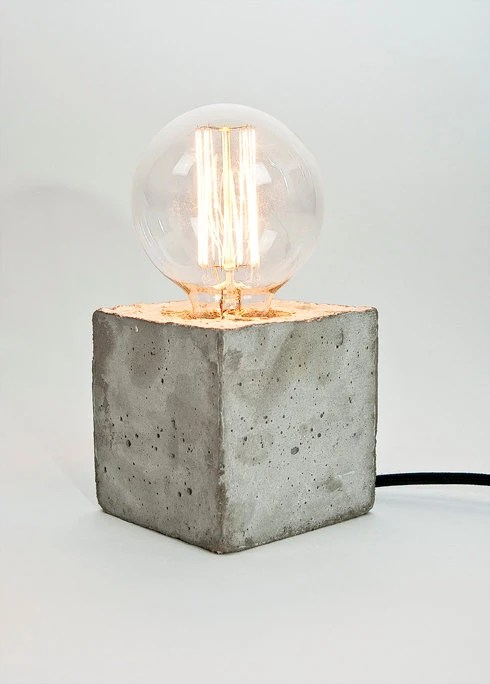 Tischlampe Beton Lj Lamp Alpha Concrete Table Lamp With Textile Cable By
