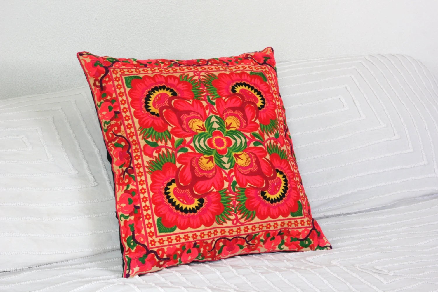 Boho Cushions Australia Hmong Thai Embroidered Hobo Boho Cushion Pillow Cover