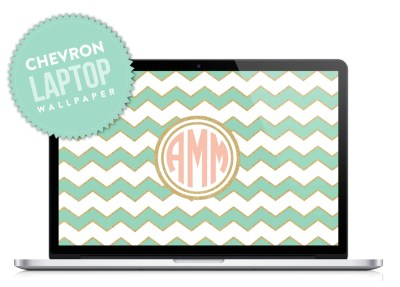 Chevron Monogram Laptop Desktop Wallpaper by DesignbyDre on Etsy