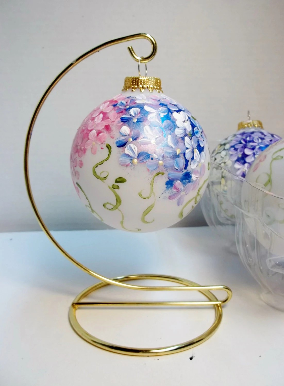 Items Similar To 3 1 4 Quot Glass Christmas Tree Ornament Hand