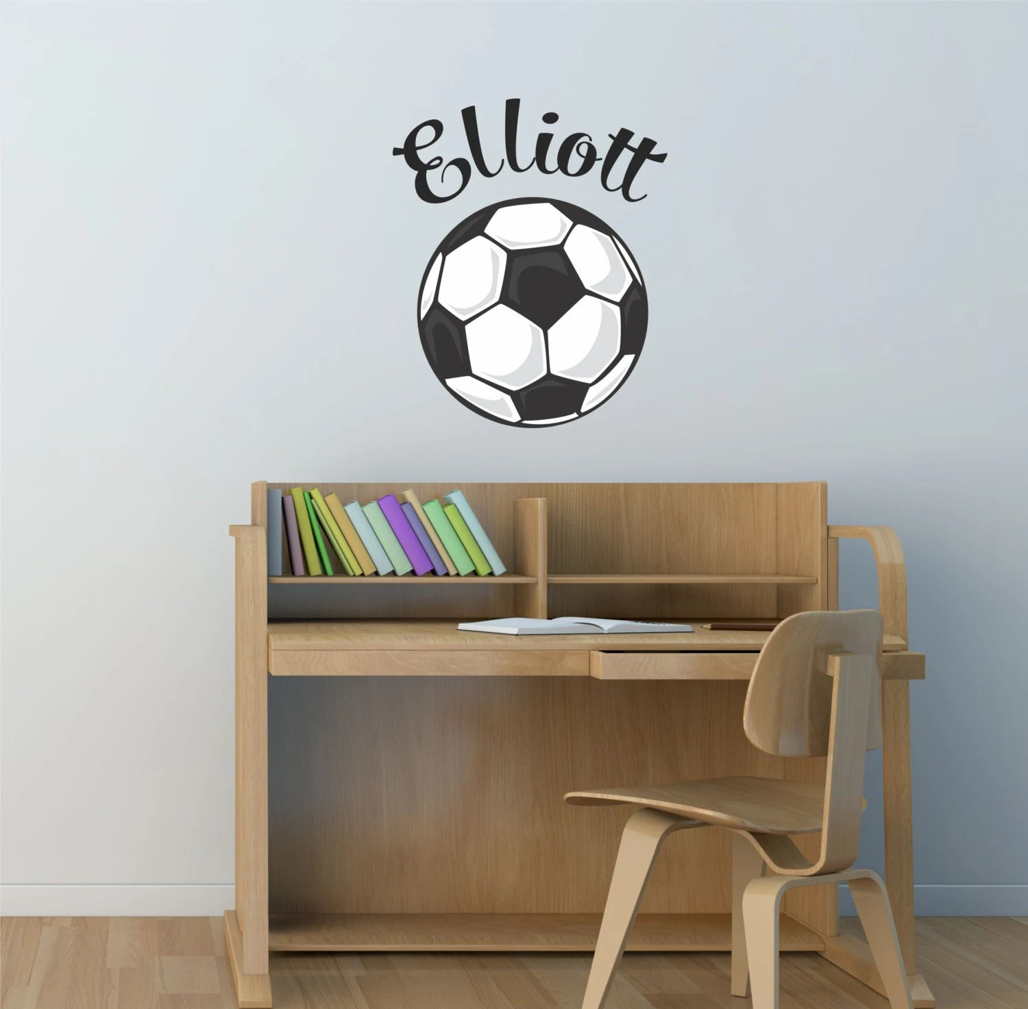 Soccer Boys Name Wall Decal Soccer Wall Decal Soccer Decal