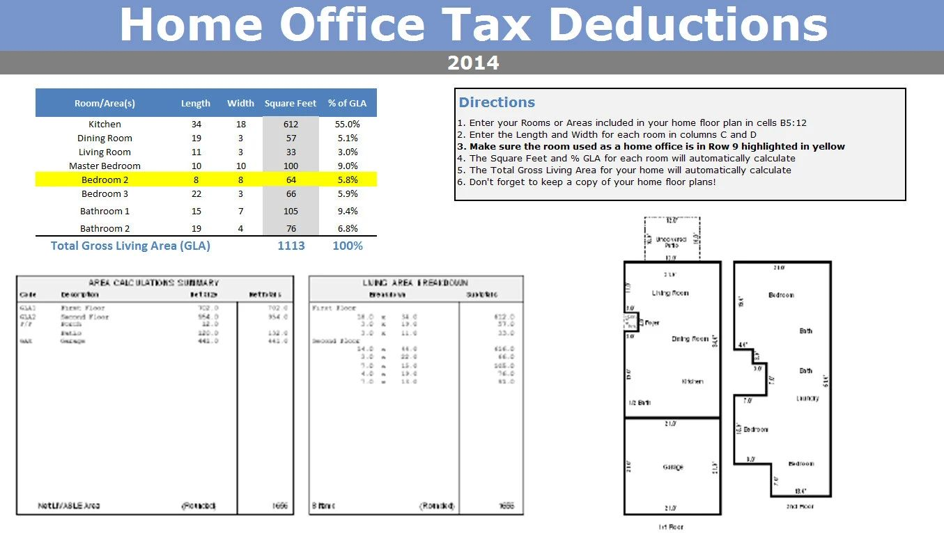 tax write off excel template