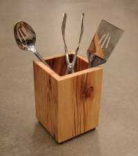 Wooden Kitchen Utensil Holder from Reclaimed by ...