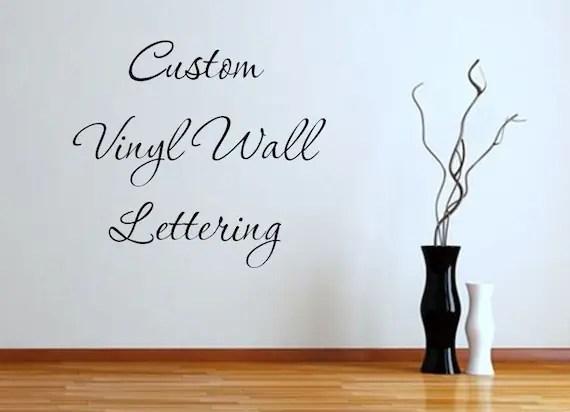 Custom Vinyl Wall Lettering Vinyl Decals by