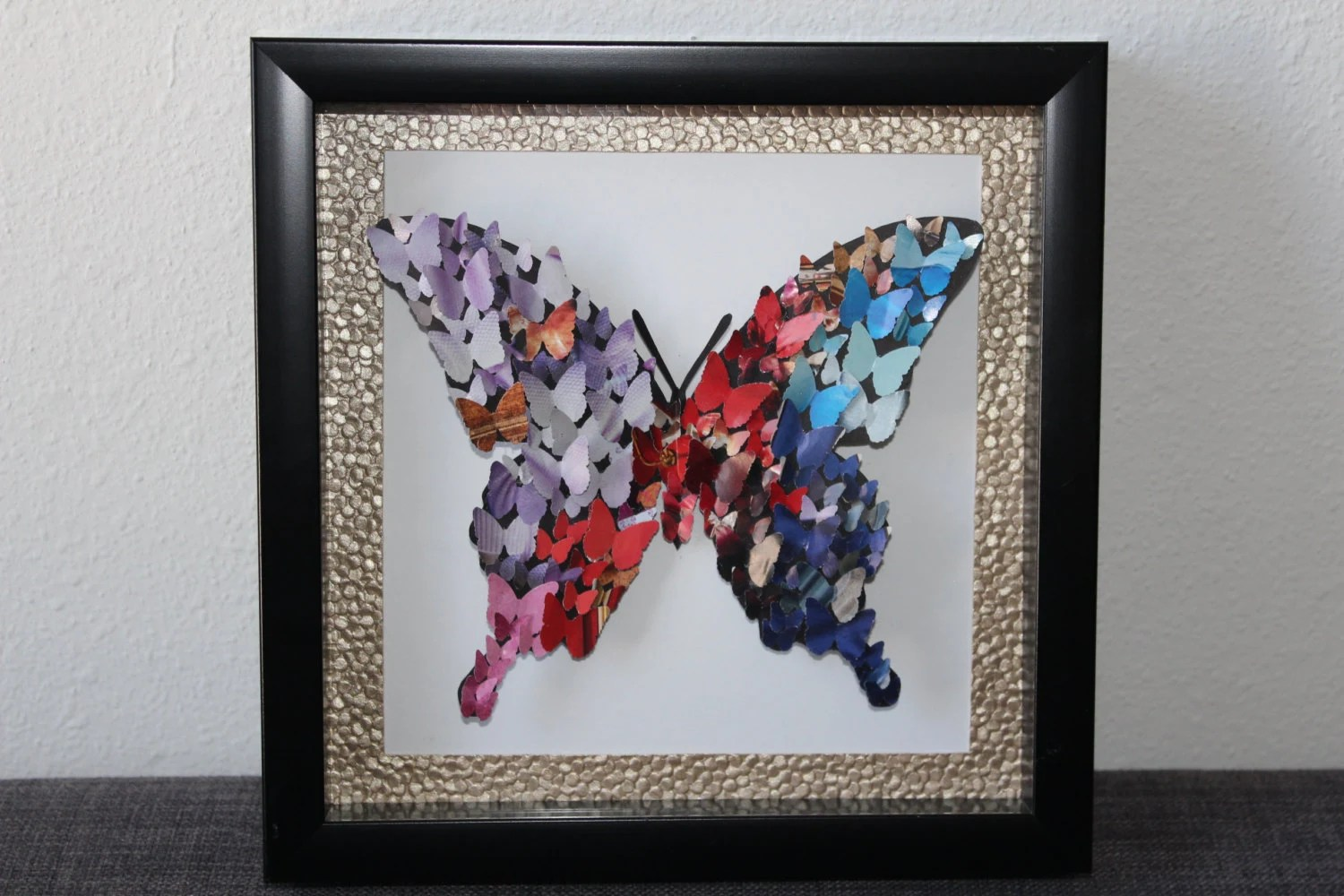 Butterfly 3d Shadow Box Frame Wall Art Unique Gift Gift