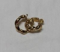 Vintage Monet Hoop Clip On Earrings Gold by VictorianWardrobe